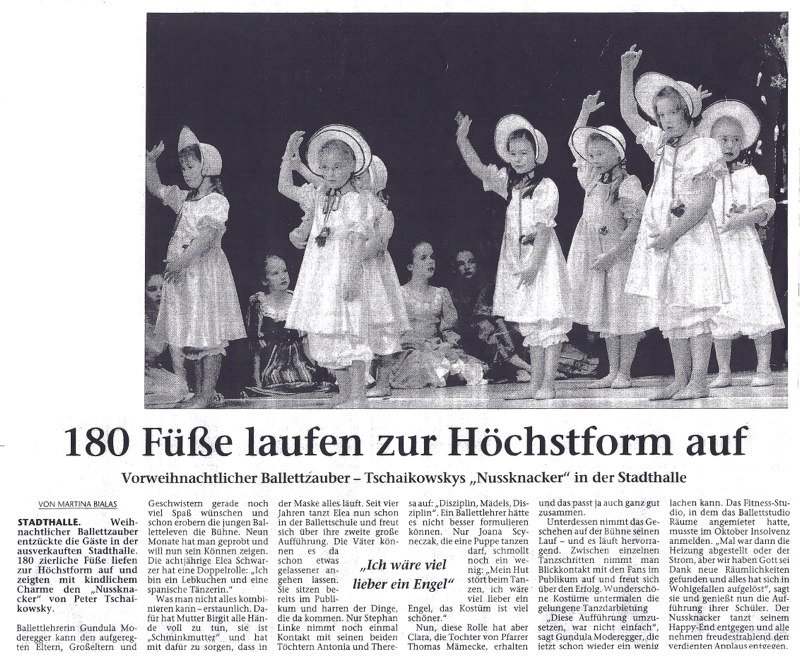 Ballettschule Moderegger Presse
